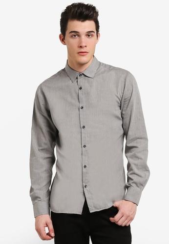 Cotton On 灰色 Slim Smart Shirt CO372AA0RHZYMY_1