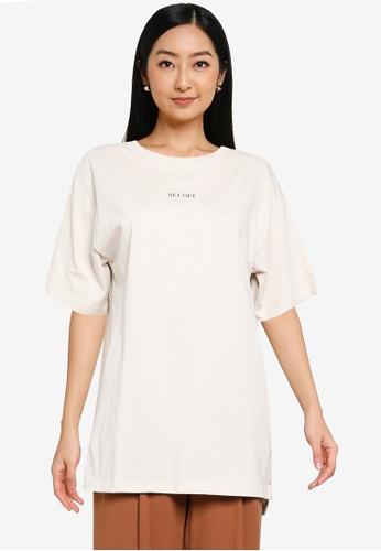 GLOBAL WORK white Graphic T-Shirt 88CC9AA4B94157GS_1
