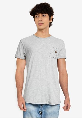 Indicode Jeans grey Villeneuve Pocket T-Shirt 49BFAAA305CEC4GS_1