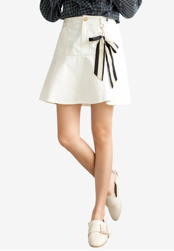 Tokichoi white Ribboned Detailed Pleated Skirt A91EEAA5D1C50AGS_1