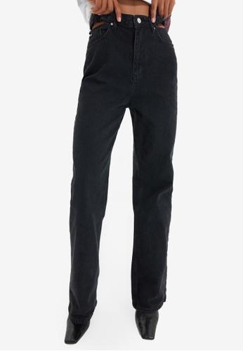 Trendyol black High Waist Wide Leg Jeans 61899AAE93D977GS_1