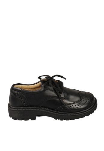 Twenty Eight Shoes 黑色 VANSA  牛皮冲孔學生鞋  VSK-D5507 B8D46KS77924FBGS_1