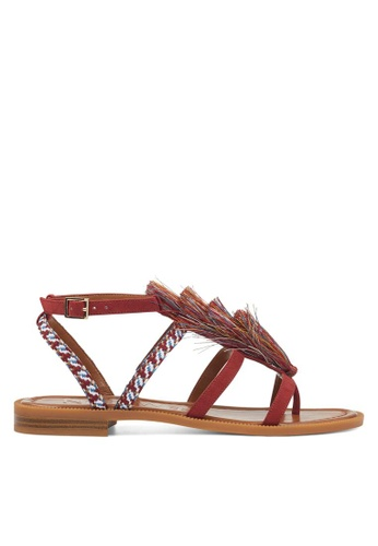 Nine West red NWGAPARINA Strappy Sandals 930A3SHE2D560BGS_1