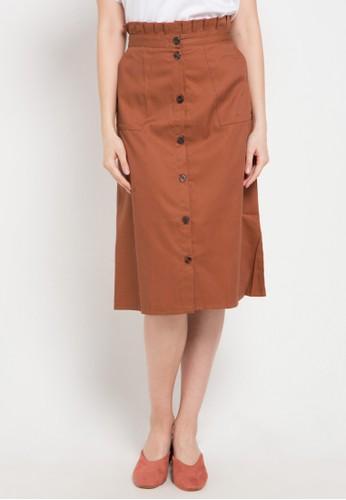 Noche orange Ariana Skirt 6ACB8AA6E42E29GS_1