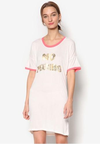 No Peeking 亮飾文字設計連身睡裙,esprit鞋子 服飾, 服飾
