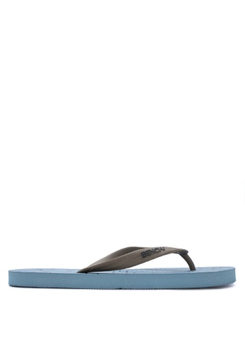 BENCH blue Printed Rubber Slippers BE550SH13MBAPH_1