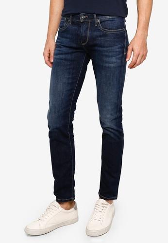 Pepe Jeans blue Hatch Slim Fit Low Waist Jeans 9624EAAD63992FGS_1