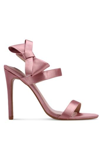Velvet pink Heels with Bow Detail D450FSHFDA836CGS_1