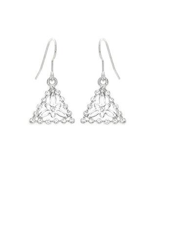 Glamorousky silver Sparkling Triangular Earrings with Silver Austrian Crystals 95DDDAC4954647GS_1