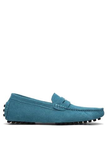 Twenty Eight Shoes 藍色 牛反絨皮駕駛鞋 VM2088 0623FSHE0FC9D5GS_1