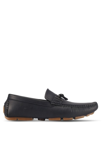 UniqTee blue and navy Slip On Loafer With Tassel 902D3SH8AE76EFGS_1