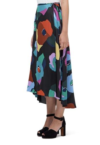 Kate Spade black Floral Collage Skirt Black 4 6F0D4AABDEE6C0GS_1
