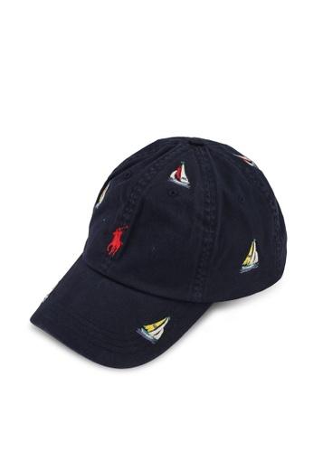Polo Ralph Lauren navy Embroidered Sailboat Ball Cap BDBFFACE0E45BBGS_1