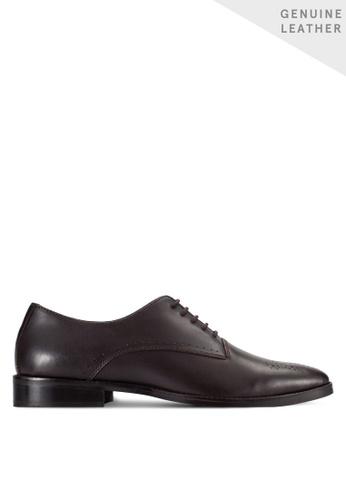 ZALORA brown Soft Cowhide Leather Dress Shoes 15625SH3268771GS_1