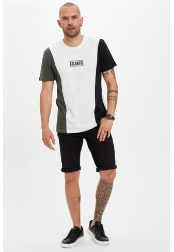 DeFacto black Regular Fit Cotton Denim Bermuda Shorts 980C8AA4685D5BGS_1