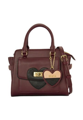 SEMBONIA red SEMBONIA Synthetic Leather Satchel Bag SE598AC0RHVSMY_1