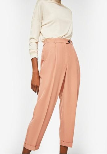 Mango orange Modal Trousers C4E73AAC6997E9GS_1