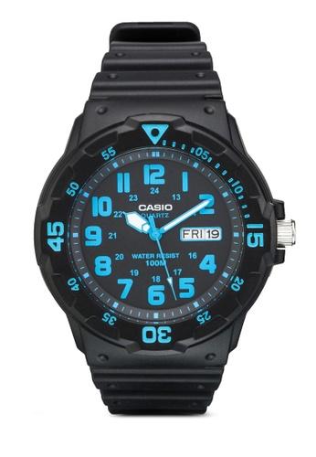 Casio black Casio Enticer Analog Black Dial Men's Watch - MRW-200H-2BVDF CA843AC63YTGMY_1