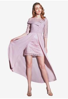 362900d8b042 O'MUSES pink Lace Stitching Chiffon Maxi Party Dress 2979CAA5037D6FGS_1