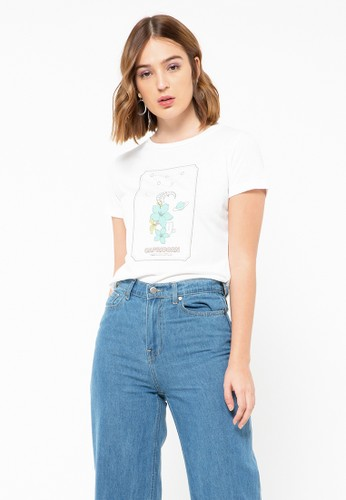 COLORBOX white Capricorn T-shirt 75AC0AA8D4A8E0GS_1