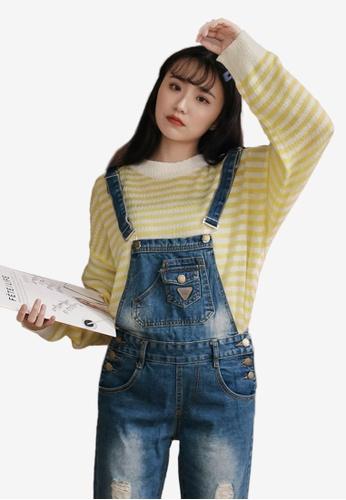 7f4fa743ae2da Buy Tokichoi Loose Stripe Long Sleeve Top Online on ZALORA Singapore
