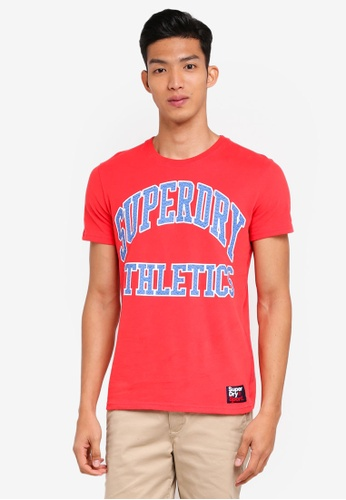 Superdry red Team Tigers Podium Tee 408F8AADE48E28GS_1