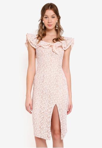 JARLO LONDON pink Sicily Dress 28DF2AAE1553A5GS_1