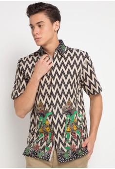 Krisna Batik grey Kenan Shirt 3726AAA505B510GS 1 a2071d4761