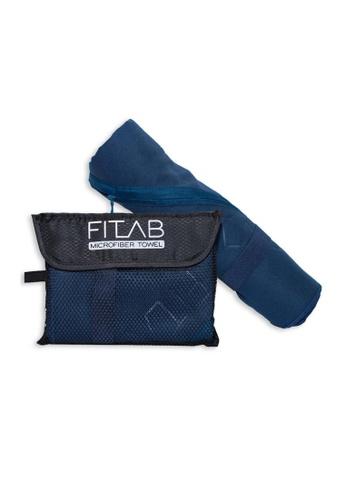 Fitlab blue Microfiber Beach Towel E1811HL80422A2GS_1