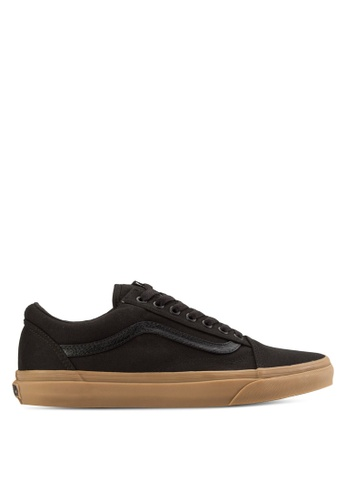 VANS black and brown Old Skool Canvas Gum Sneakers VA142SH78SCJMY_1