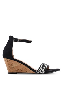 ae84218772ba2 Nose black Tribal Band Wedge Sandals C4BFBSH4A63946GS 1