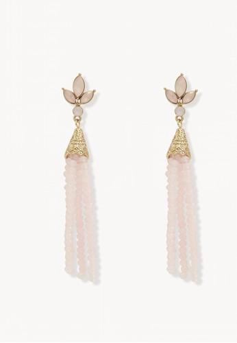 Pomelo gold Beaded Tassel Drop Earrings - Gold 52043AC6D71A91GS_1