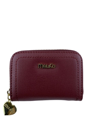 Mel&Co red Faux Leather Zipped Around Card Holder 02ECAAC9A5355DGS_1