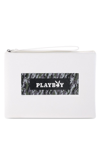 Playboy white Playboy Clutch Bag 7EF41AC670CFF0GS_1