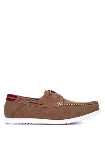 H2Ocean brown Tarick Boat Shoes EF03ASH3E2FF2BGS_1