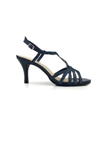 SHINE black Denim Fabric Multistrap Sandal DCC93SHB745671GS_1
