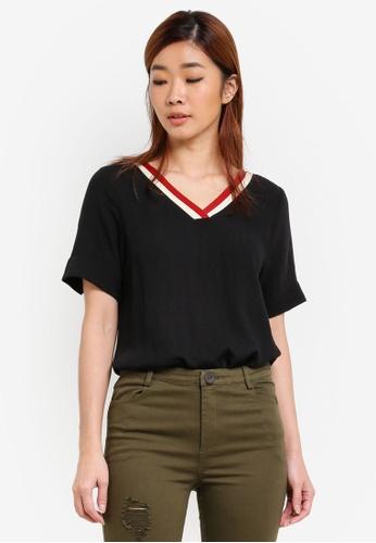 Geb. black Short Sleeve Top GE945AA0S2Z5MY_1