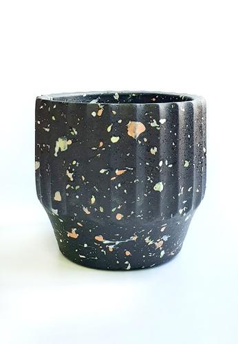 Your Lagom black and multi Black Terrazzo Planter Pot S 800E8HL8789C8DGS_1