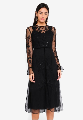Frock and Frill black Embellished Maxi 78730AA620BA54GS_1