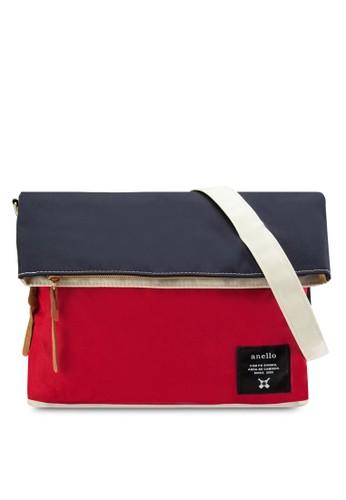 折疊拉鍊帆布肩背包, 包, zalora 內衣包