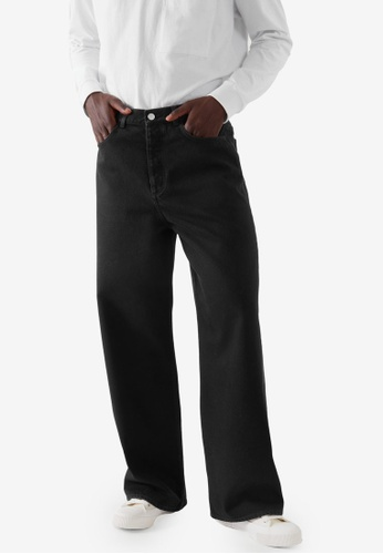 COS black Relaxed Wide-Leg Jeans BF7EBAAF2C5721GS_1