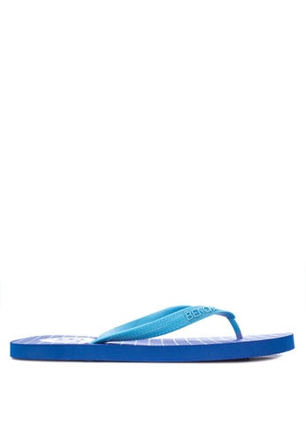 BENCH blue Printed Slippers BE550SH41LOKPH_1