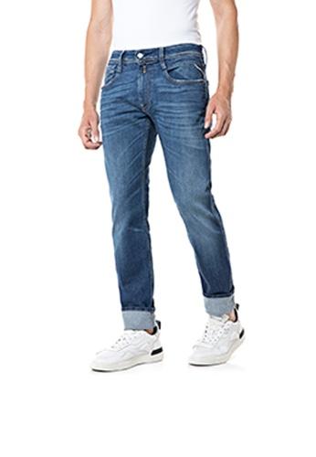REPLAY blue 573 BIO slim fit Anbass jeans A5E35AAC1298E7GS_1
