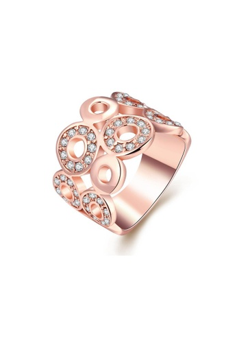 Sopistikada gold Bria Rose Gold Plated Ring SO776AC0J4YGPH_1