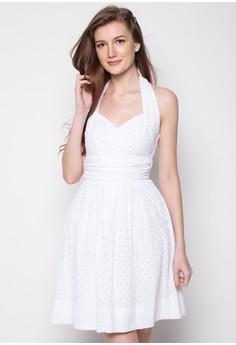 Classic Embossed Sweetheart Neckline Short Dress