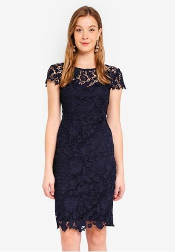 Dorothy Perkins navy Scarlett B Navy Lace 'Yasmin' Dress 7829BAA2AB16A0GS_1