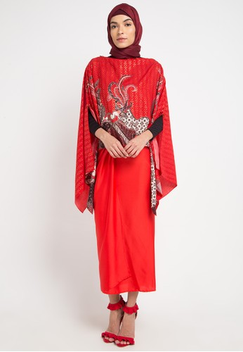 LUIRE by Raden Sirait red and multi A-Fasira 71759AA8C78A34GS_1