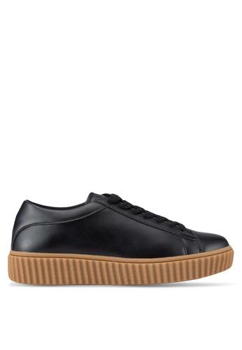 ZALORA black PU Sneakers 748A0SHCFDD9B2GS_1