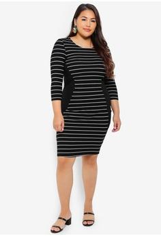 e8d0ca43602 Junarose Plus Size Faduma 3 4 Sleeve Above Knee Dress S  79.00. Sizes 38 40  44