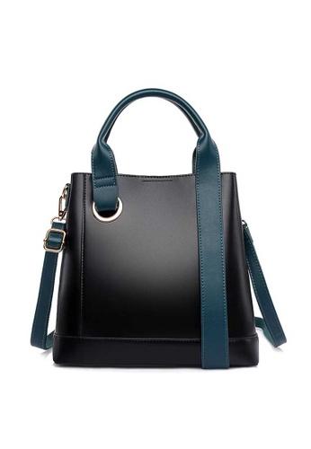 Lara black Women's Wear-resistant Soft PU Leather Zipper Shoulder Bag Handbag - Black (Small Size) 9E013AC16E41E8GS_1
